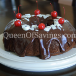 Chocolate Cherry Truffle Cake