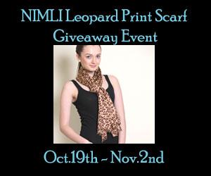 Blogger Opp - NIMLI Leopard Print Scarf RV $50 Giveaway