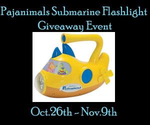 Pajanimals-Submarine-Flashlight-Giveaway-Event