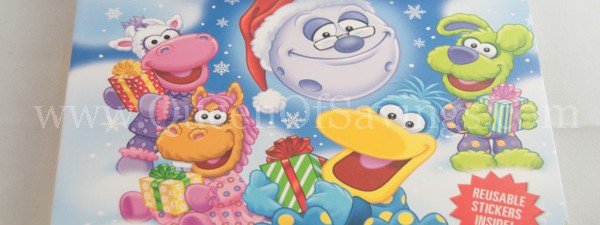 Squacky and the Gift of Christmas holiday board and sticker book from Running Press