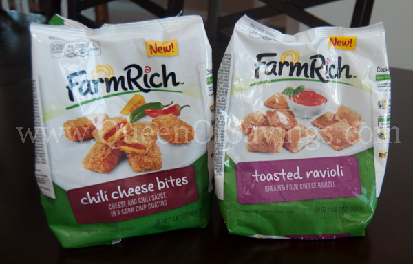 Farm Rich Chili Cheese Bites and Toasted Ravioli