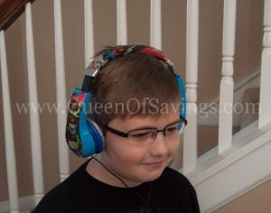 Ethan Wearing TMNT Headphones