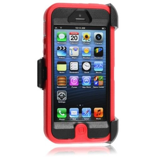 release date: d7fa8 11aa4 OtterBox Defender Series iPhone 5/5s Case & Holster Red/Black $14.99 ...
