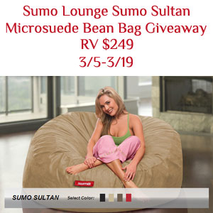 Prime Sumo Sultan Bean Bag Chair Giveaway Rv 249 Queen Of Reviews Bralicious Painted Fabric Chair Ideas Braliciousco