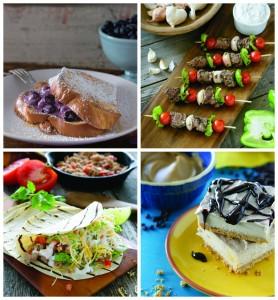 Greek Yogurt Image Collage