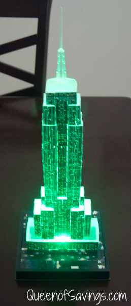 Empire State Building at Night Green