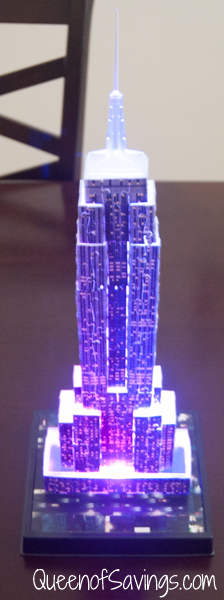 Empire State Building at Night Purple