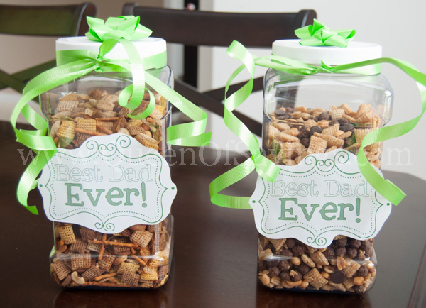 Father's Day Gift Idea Chex Mix