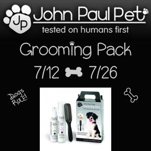John Paul Pet Grooming Pack Giveaway