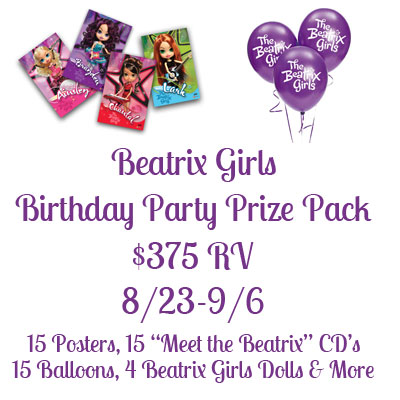 Beatrix Girls Birthday Party Prize Pack Giveaway