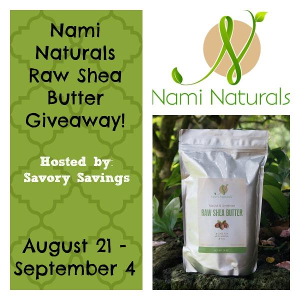 Nami Naturals Raw Shea Butter Giveaway
