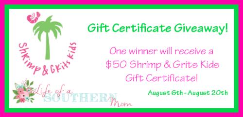 Shrimp & Grits Kids $50 GC Giveaway