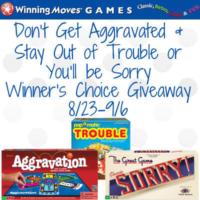 Don't Get Aggravated & Stay Out of Trouble or You'll be Sorry Giveaway