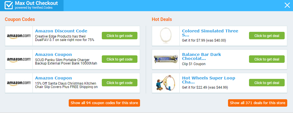 Max Out Checkout All Coupons