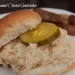 Crockpot Creamed Chicken Sandwiches