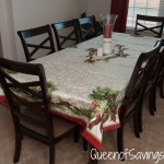 Christmas Ribbons Tablecloth from Brylane Home