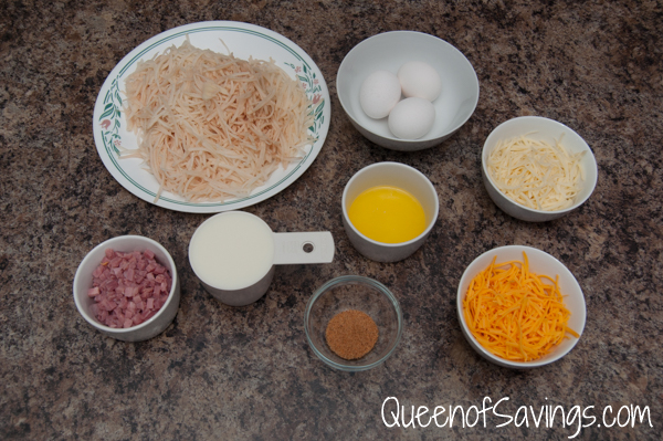 Hash Brown Breakfast Quiche Ingredients