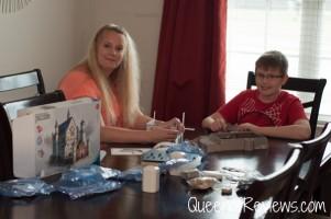 Putting together Ravensburger Neuschwanstein Castle 3D Puzzle