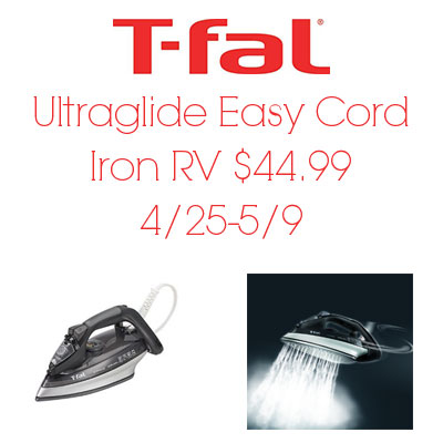 T-Fal Ultraglide Iron Giveaway. Ends 5/9