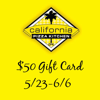 California Pizza Kitchen $50 Gift Card Giveaway. Ends 6/6