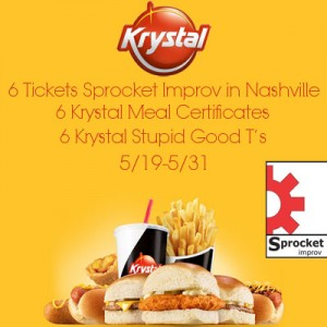 Enter to win Krystal-Improv-Nashville. Ends 5/31.