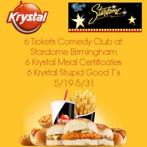 Enter to win Krystal-Stardome-Birmingham. Ends 5/31.