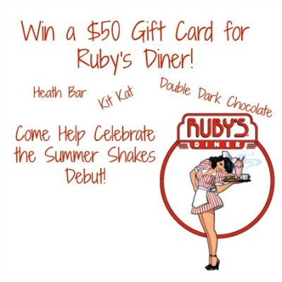 Ruby's Diner $50 Gift Card Giveaway