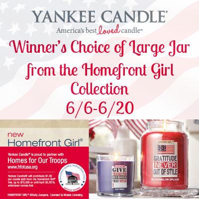 Yankee Candle Homefront Girl Collection Giveaway