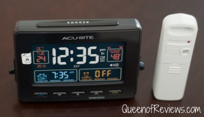 AcuRite Atomic Clock with Dual Alarm, USB Charger and Temperature