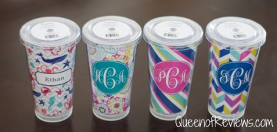 personalized tumblers and acrylic serving trays from things