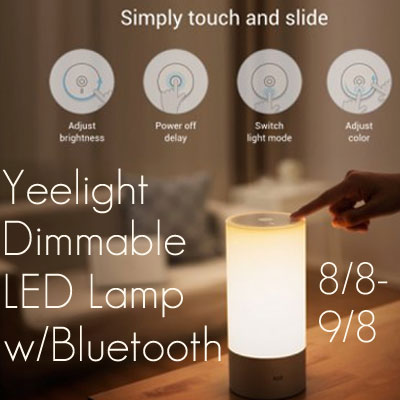 Yeelight Dimmable LED Lamp Giveaway. Ends 9/8