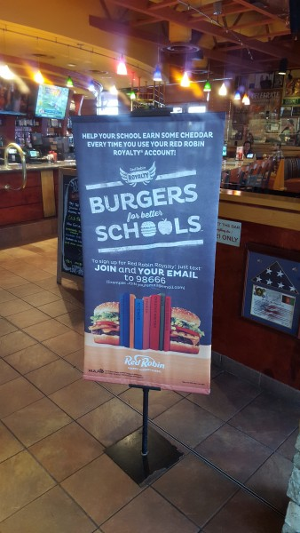 ed Robin's Burger for Better Schools Program