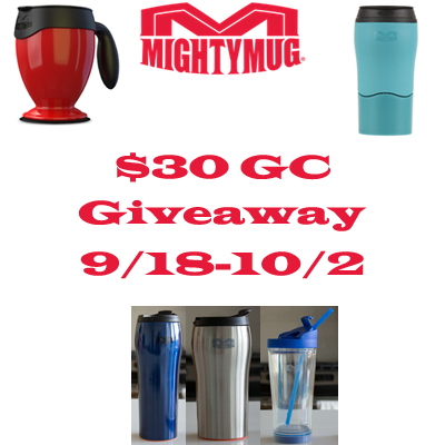 Enter the Mighty Mug $30 GC Giveaway. Ends 10/2