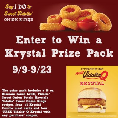 photo about Krystal Printable Coupons called Vidalia® Adorable Onion Rings presently Readily available at Krystal ~ Queen