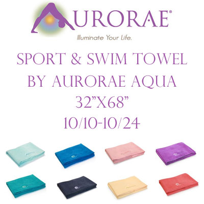 Aurorae Sport & Swim Towel Giveaway. Ends 10/24