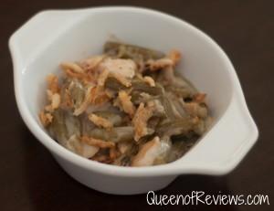 Green Bean Casserole Served
