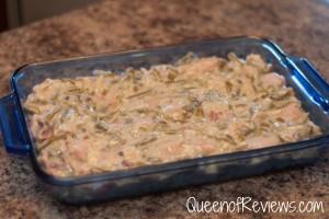 Green Bean Casserole in pan