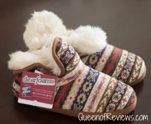 Dearfoams Bright Fair Isle Bootie Slippers