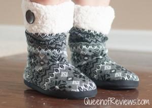 Dearfoams Tall Knit Boot Slippers