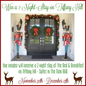 Bed & Breakfast on Tiffany Hill Giveaway