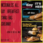 "McDonald's ""All Day Breakfast"" Swag Bag Giveaway"