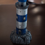 Lighthouse at Night 3D Puzzle from Ravensburger assembled