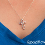 4 Stone Sterling Silver Infinity Cross
