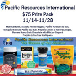 Pacific Resources International $75 Prize Pack Giveaway
