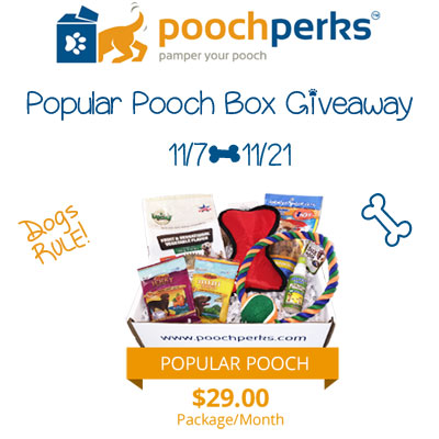 Pooch Perks Popular Pooch Box Giveaway