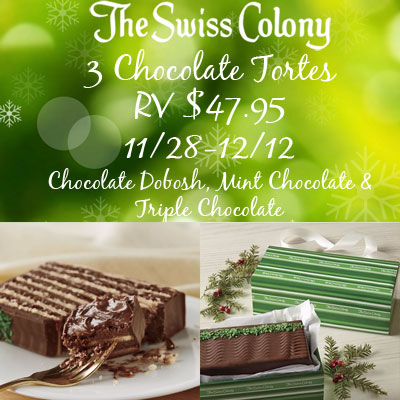 The Swiss Colony Chocolate Torte Collection Giveaway