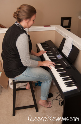 Hannah playing the Casio CGP-700