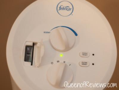Febreze Air Purifier Cartridge Slot and Ccntrols