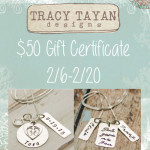 Tracy Tayan Designs Personalized Jewelry + $50 Gift Certificate Giveaway