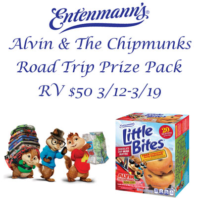 Entenmann's & Alvin & The Chipmunks Roadtrip Prize Pack Giveaway